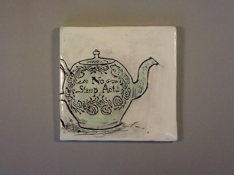 Stamp act teapot